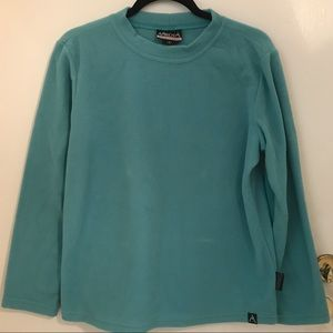 active wear fleece turquoise sweater